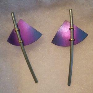 Tomahawk inspired post earrings
